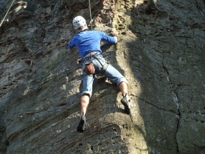 Top Rope Rock Climbing, A Cruising Couple