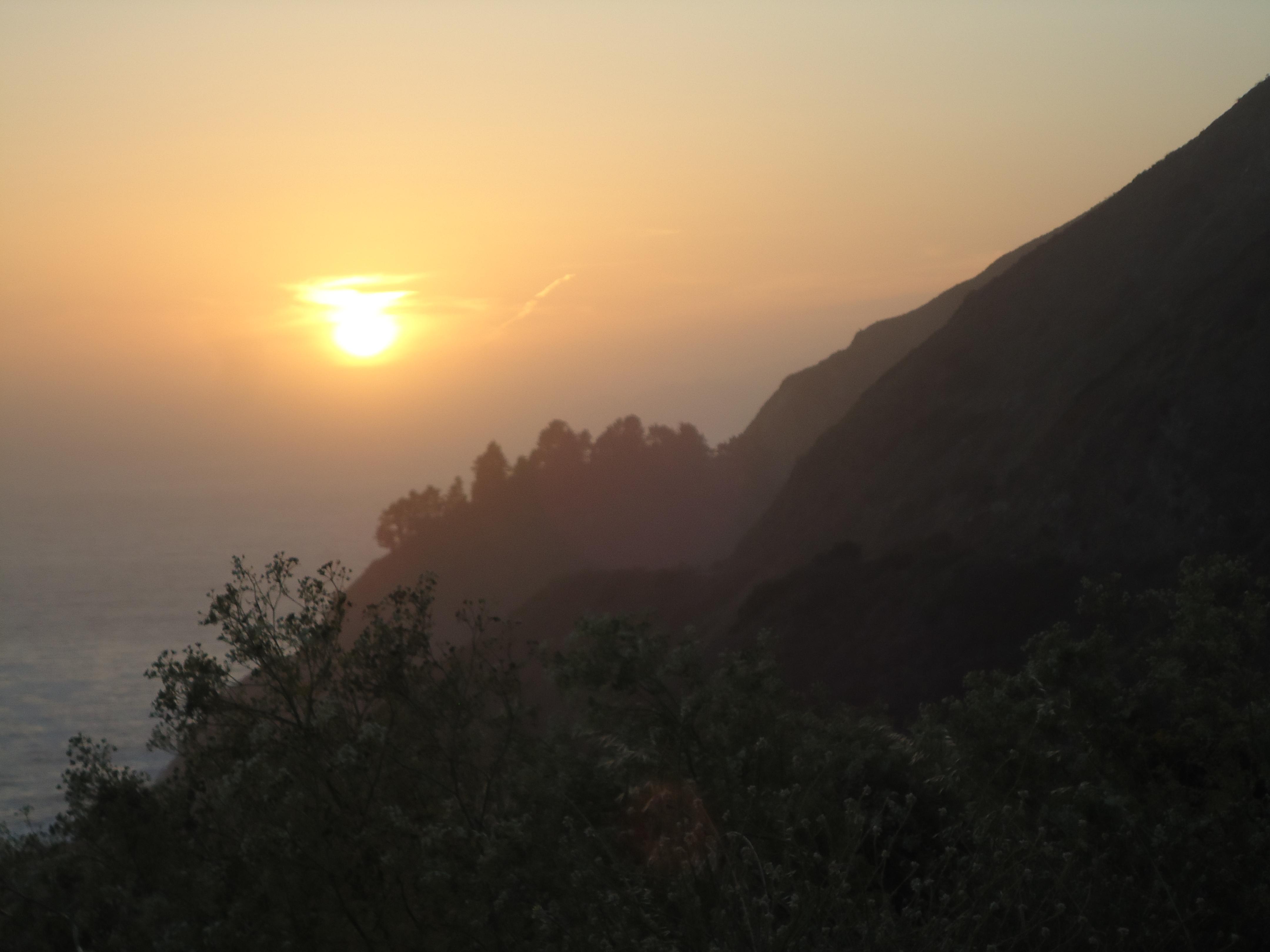 Sunset, Big Sur, Road Trip