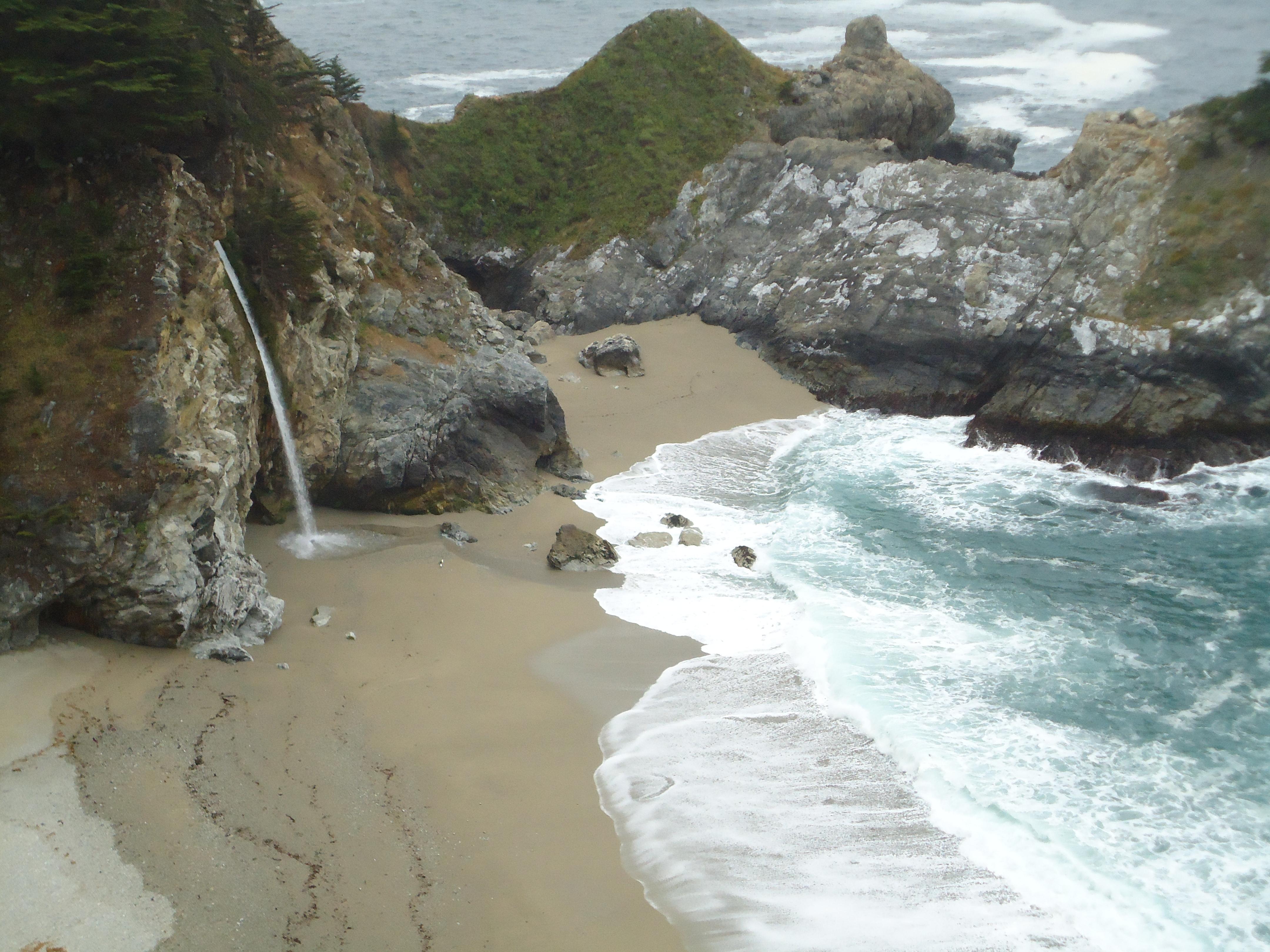 Waterfall, Big Sur, Road Trip