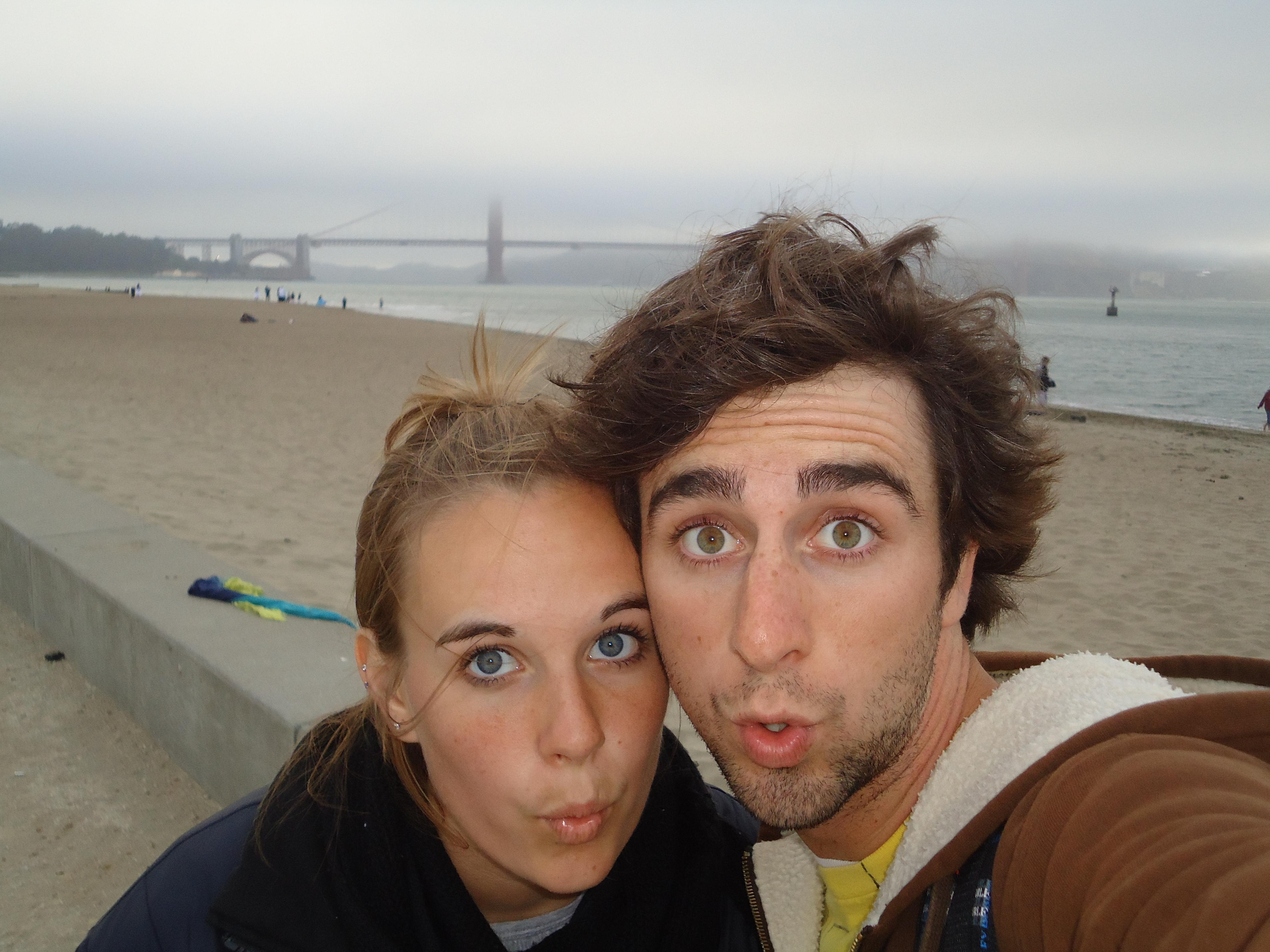 A Cruising Couple, Golden Gate Bridge, San Francisco